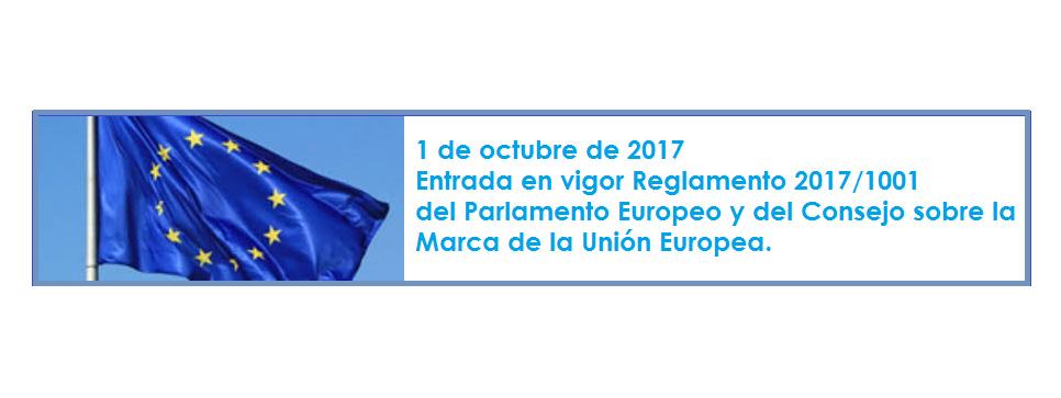 El 1 de octubre entra en vigor la reforma del Parlamento Europeo y del Consejo sobre la marca de la Unión Europea
